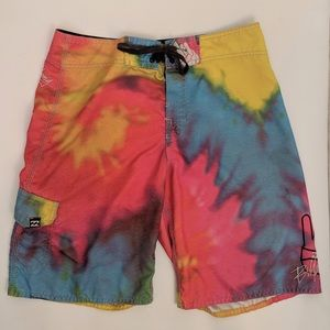 Tie Dye Billanbong Swimming Board Shorts